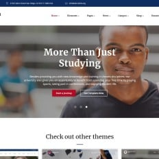 Education templates university parallax website template pronofoot35fo Images