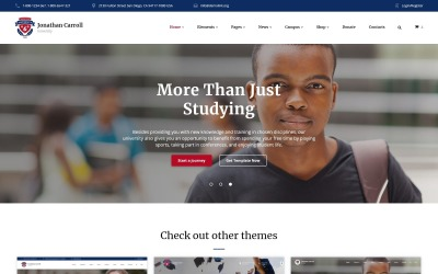 University Responsive Website Template #59029