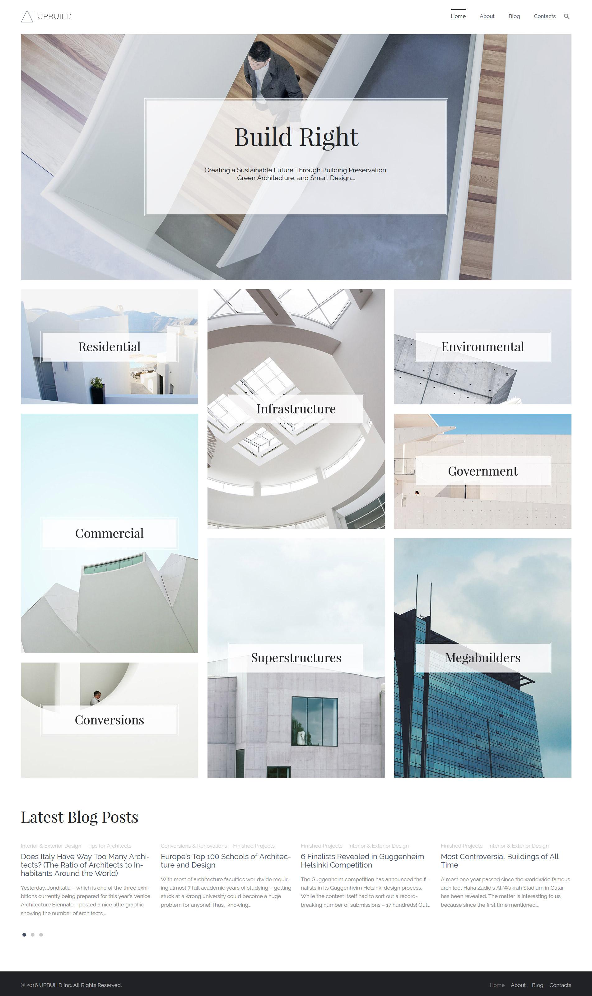 """""""Upbuild - Architecture Firm"""" Responsive WordPress thema №59021 - screenshot"""