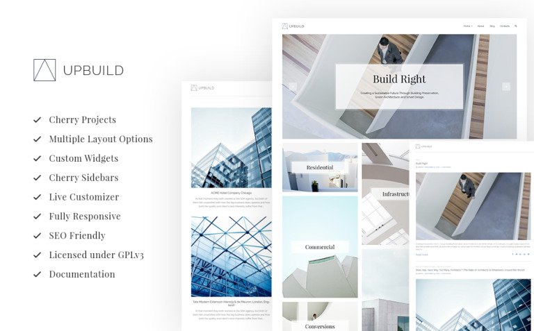 Upbuild - Architecture Firm WordPress Theme New Screenshots BIG
