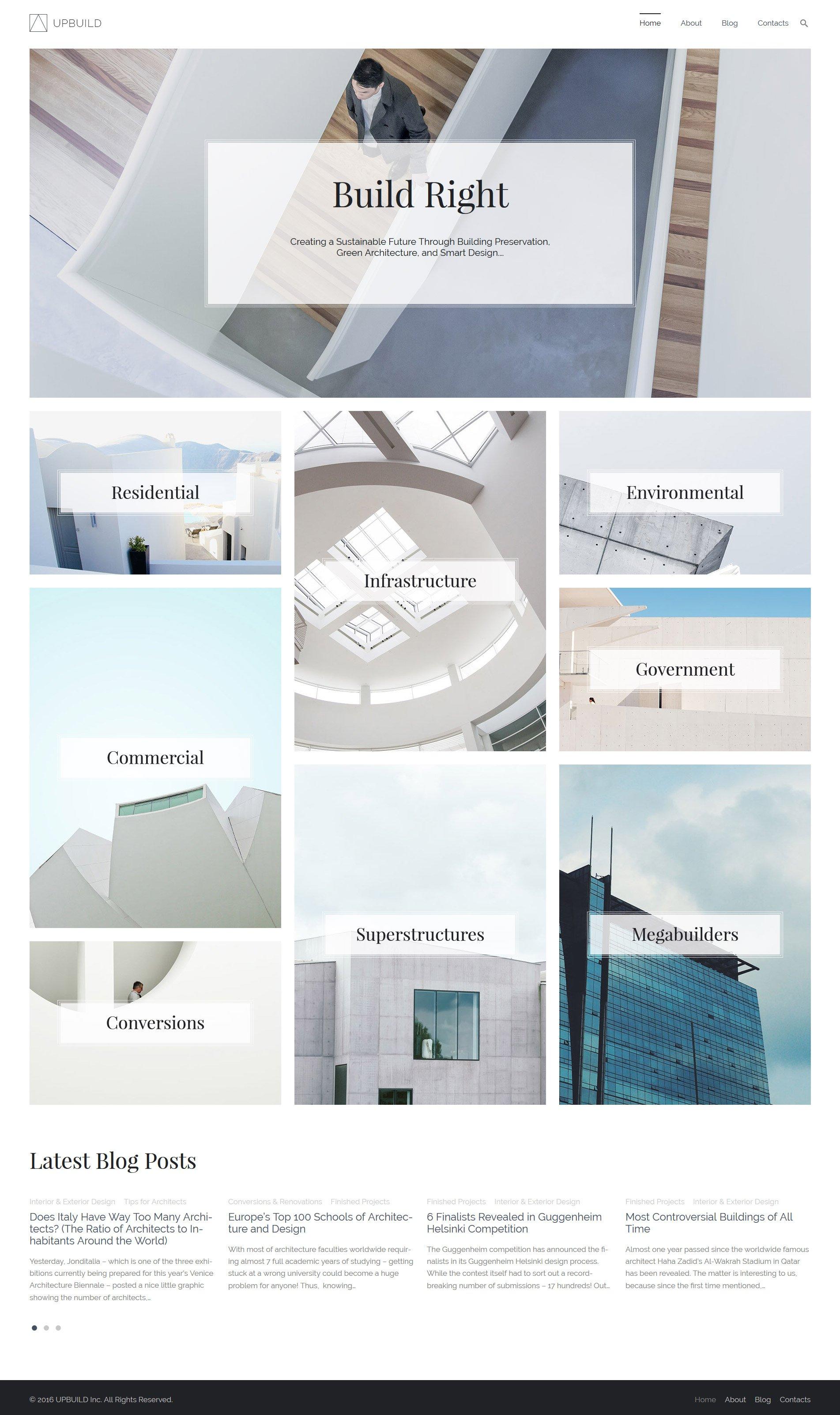 Upbuild для сайта архитектурной компании №59021 - скриншот