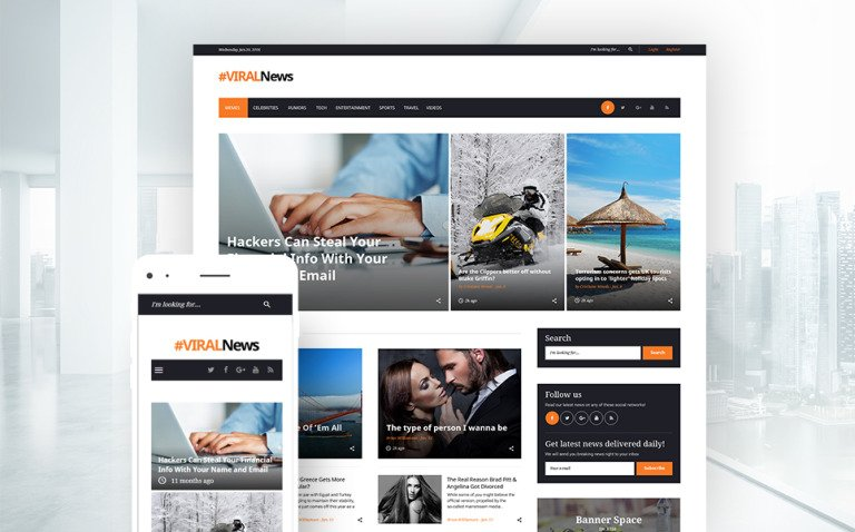 Viral News Portal & Magazine WordPress Theme New Screenshots BIG