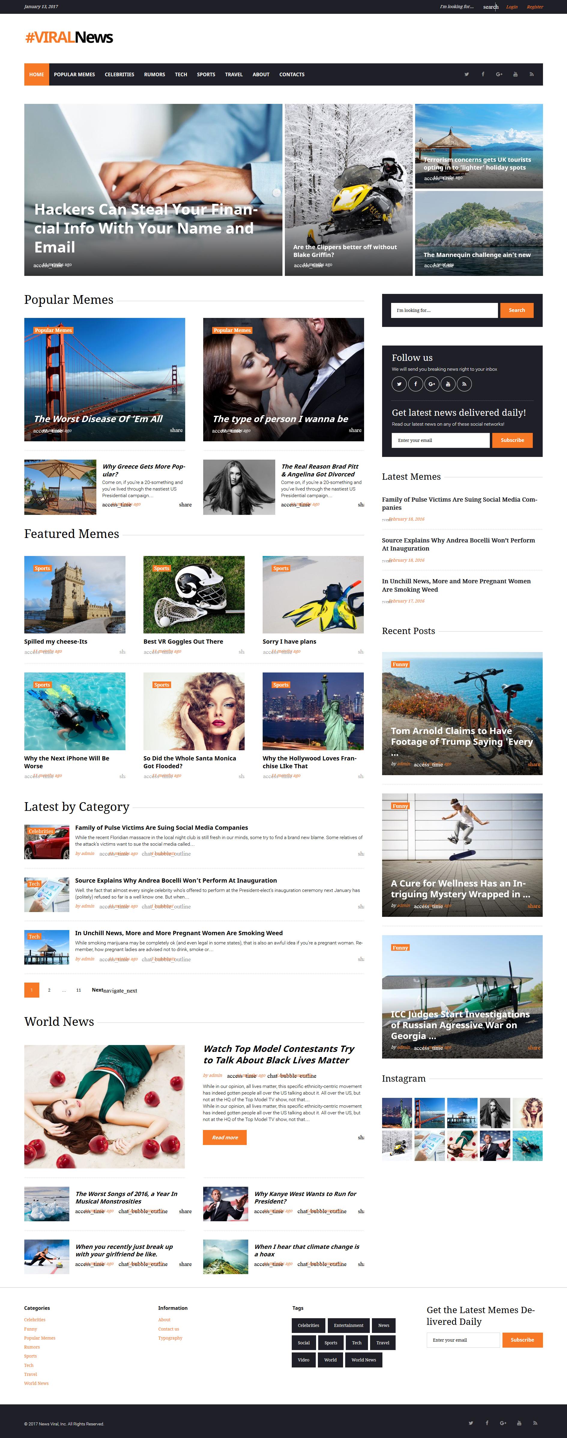 Viral News Portal & Magazine WordPress Theme - screenshot