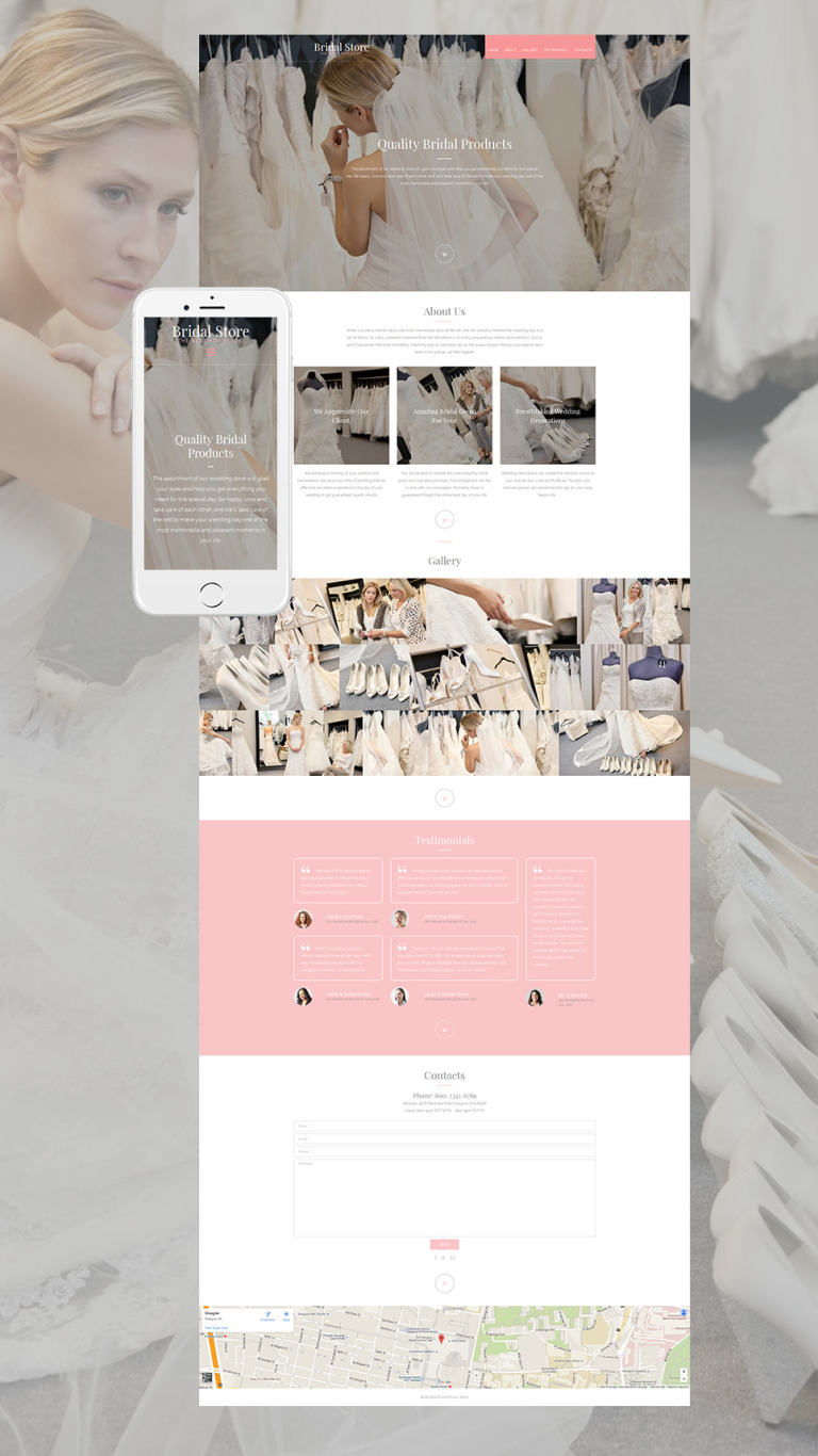 Wedding Shop Responsive Moto CMS 3 Template New Screenshots BIG