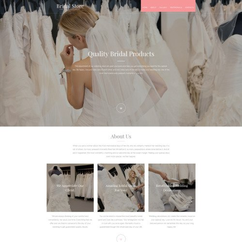 Bridal Store - MotoCMS 3 Template based on Bootstrap