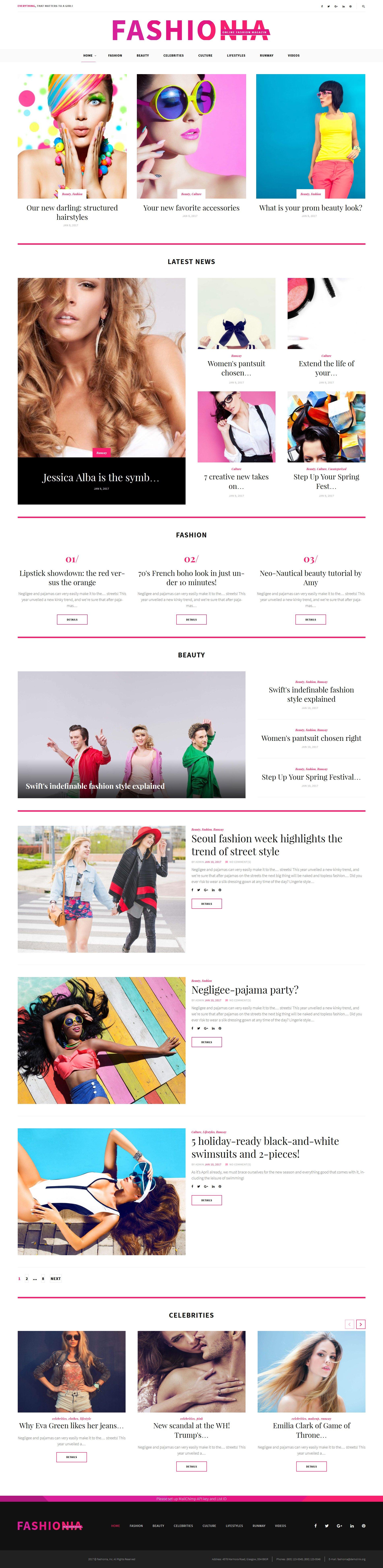 Шаблон Fashionia – блог о моде #59028