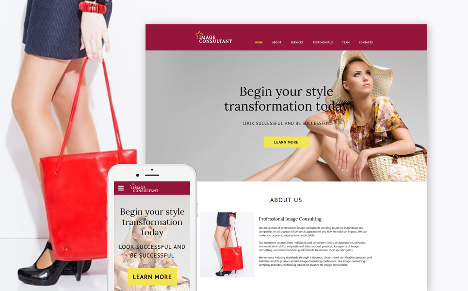Image Consultant template illustration image