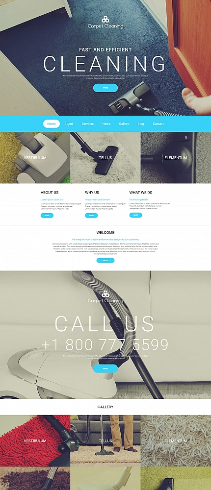 ADOBE Photoshop Template 59107 Home Page Screenshot
