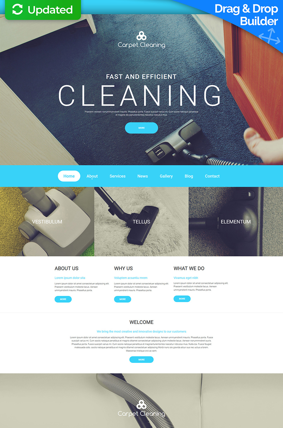 Cleaning provider site with blog