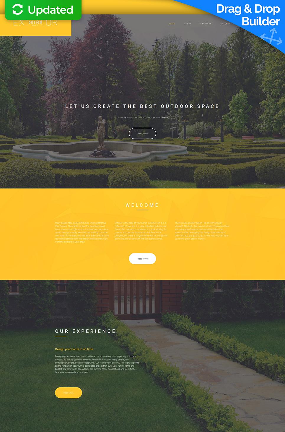 Responsive site for landscape designers