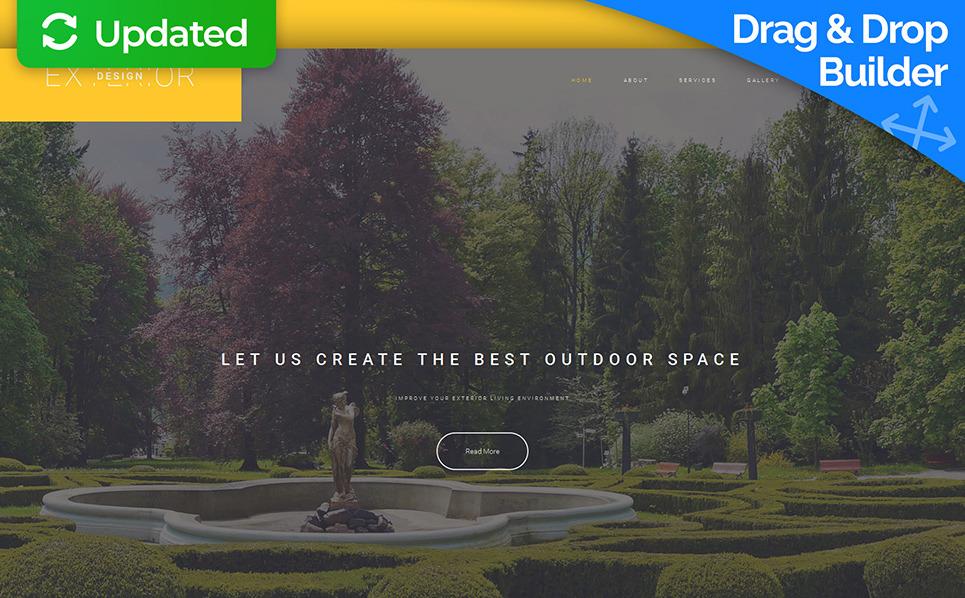 Responsive Moto CMS 3 Template over Exterieur-design  New Screenshots BIG