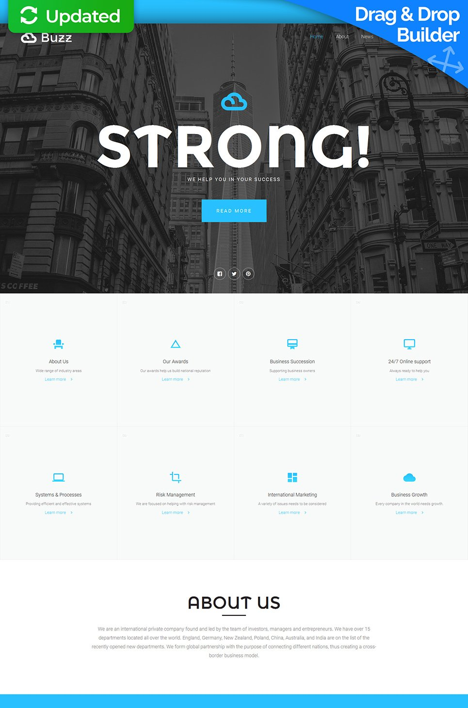 Responsive theme for business site
