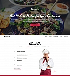 Cafe & Restaurant Moto CMS 3  Template 59120