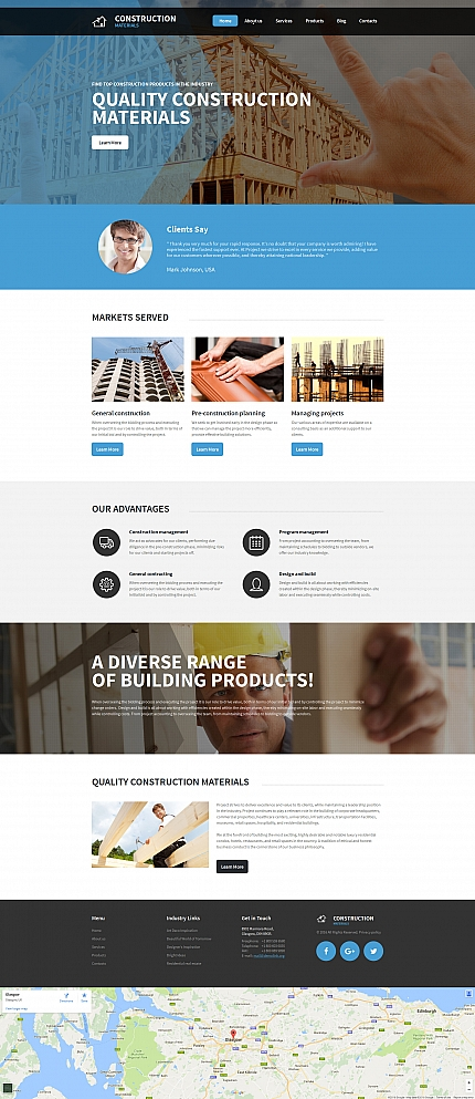 ADOBE Photoshop Template 59122 Home Page Screenshot