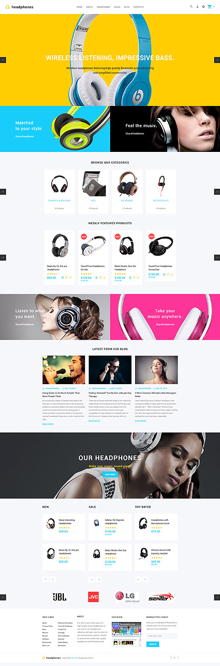ADOBE Photoshop Template 59129 Home Page Screenshot
