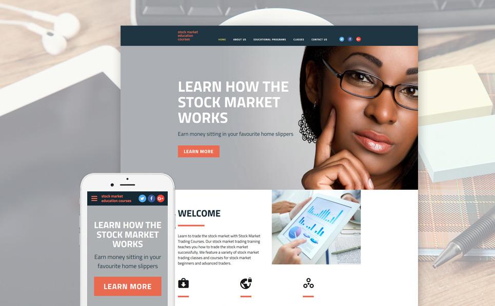 Responzivní Šablona webových stránek na téma Obchodní škola New Screenshots BIG