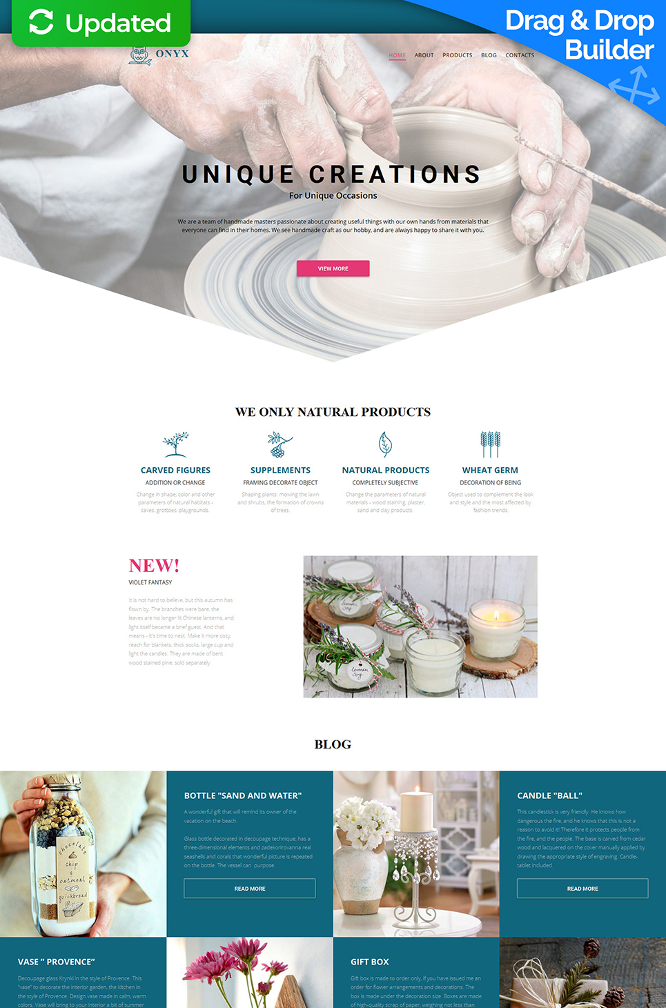 Onyx Responsive Website Template - image