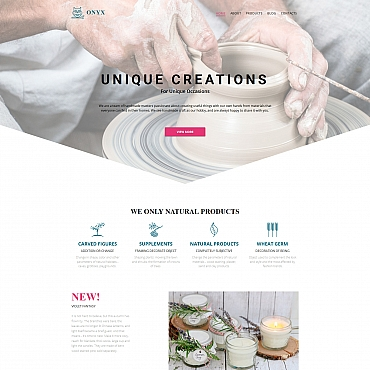 Preview image of Hobbies & Crafts Moto CMS 3 template No. 59134