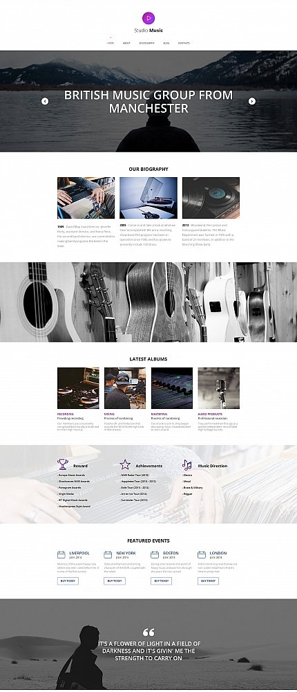 ADOBE Photoshop Template 59135 Home Page Screenshot