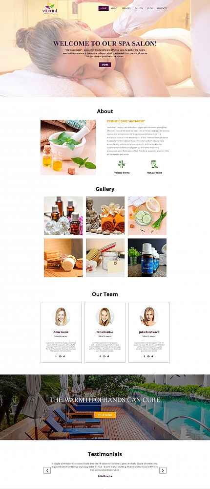 ADOBE Photoshop Template 59140 Home Page Screenshot