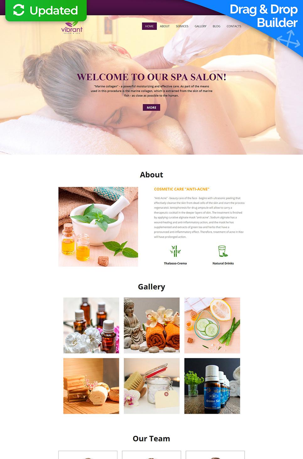 Vibrant Responsive Website Template - image