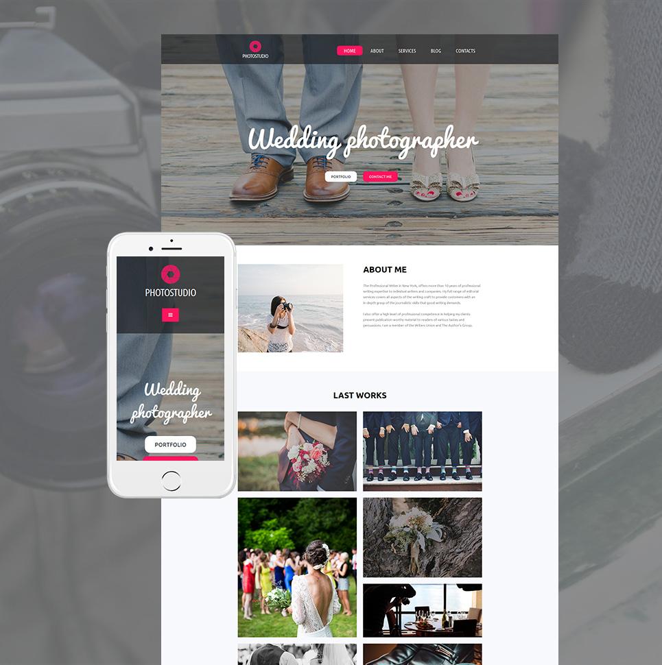 Photo Studio Responsive Website Template - image