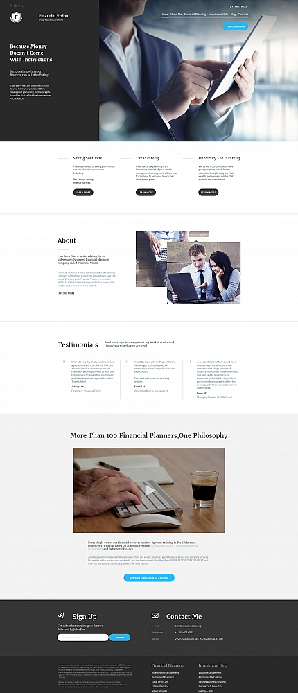ADOBE Photoshop Template 59148 Home Page Screenshot