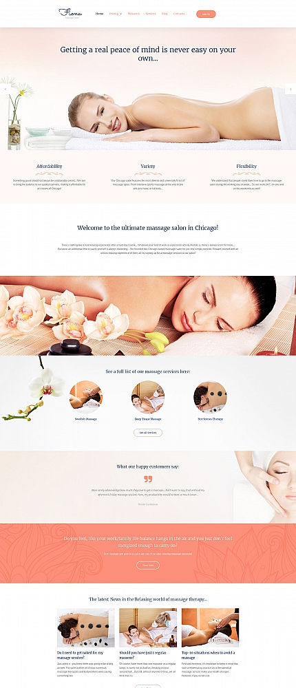 ADOBE Photoshop Template 59152 Home Page Screenshot