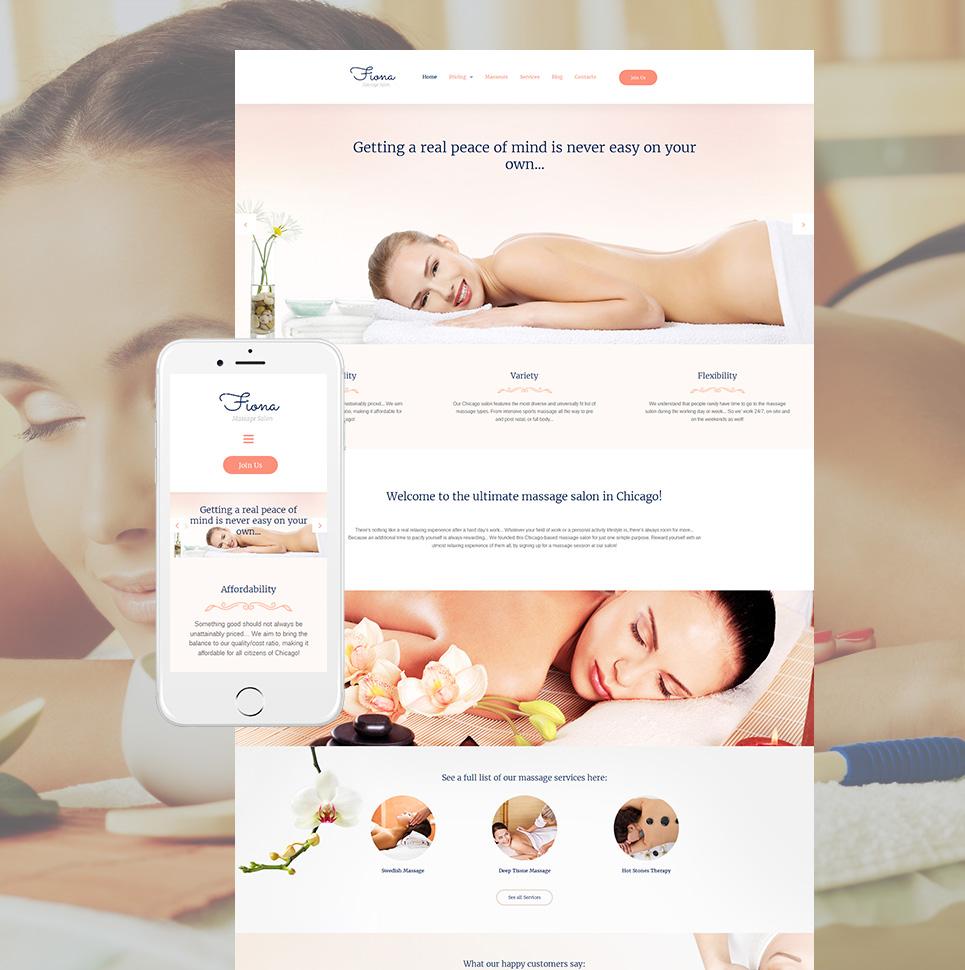 Peachy web theme for spa salon