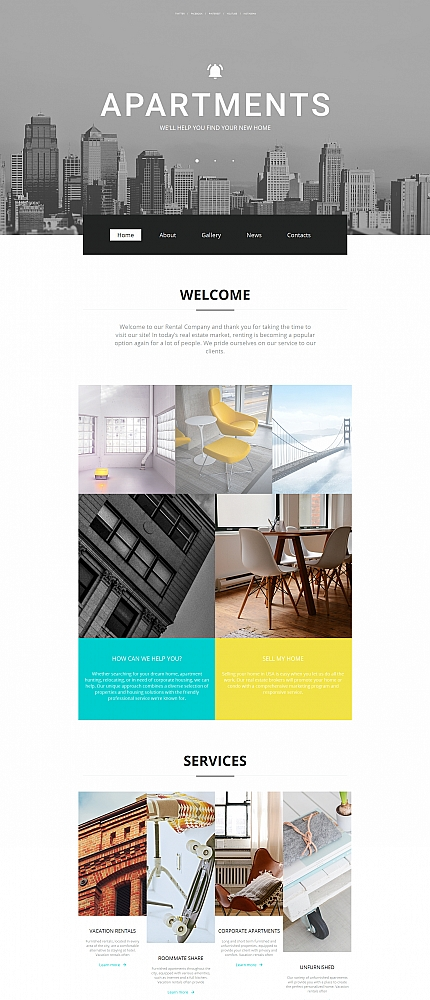 ADOBE Photoshop Template 59155 Home Page Screenshot