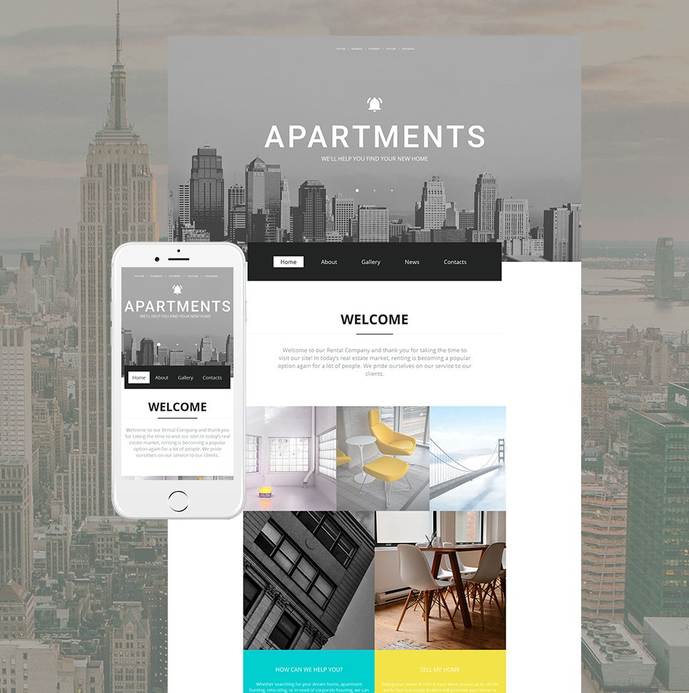 Apartments html HTML Website Template - image