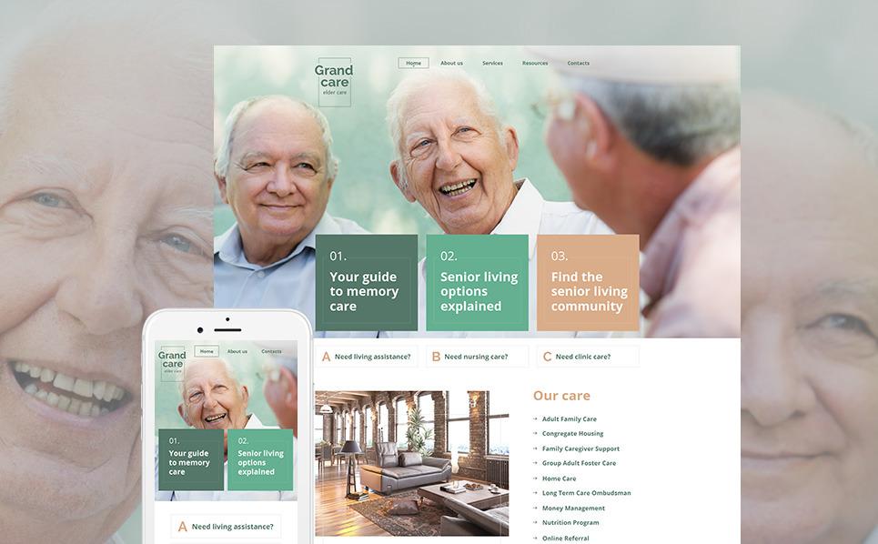 Luxusní Moto CMS HTML šablona na téma Péče o seniory New Screenshots BIG