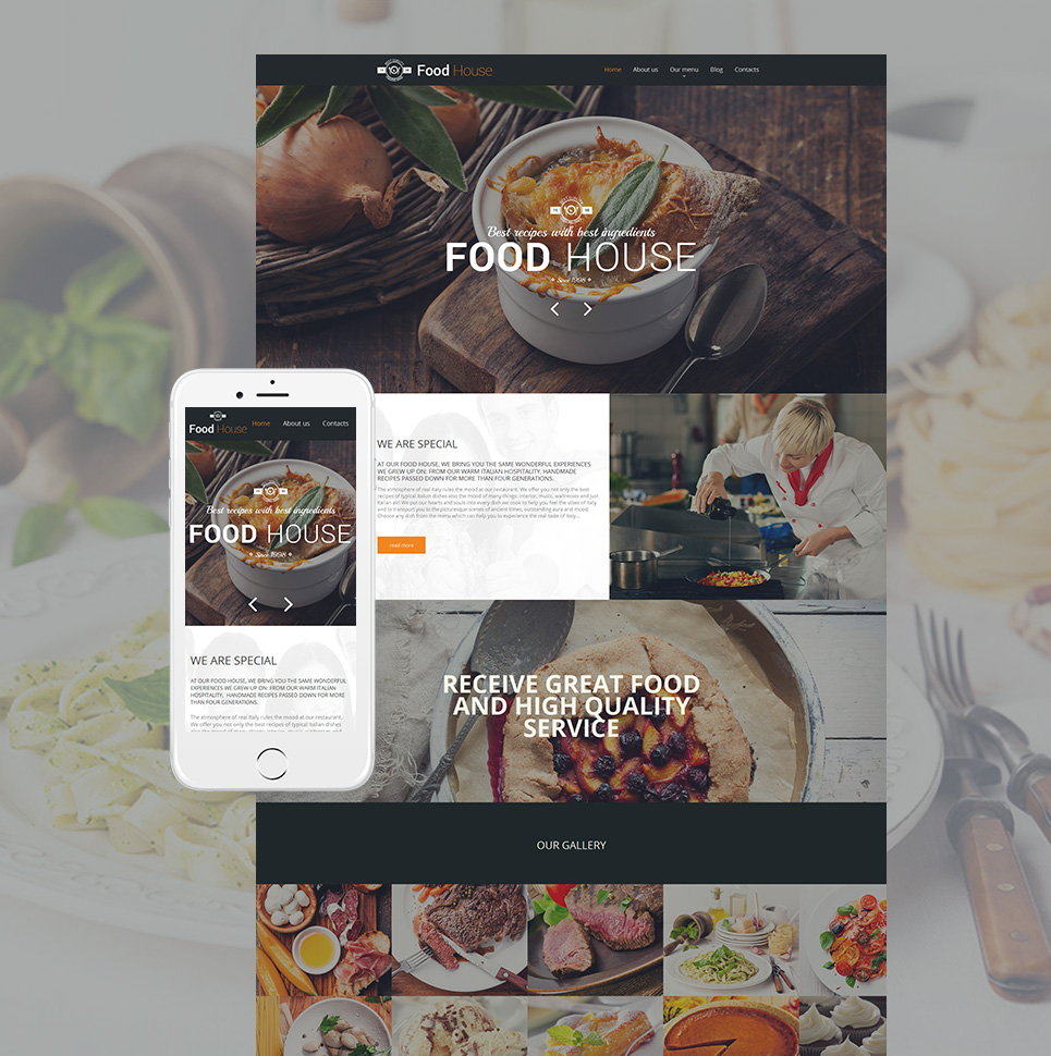 Food House html HTML Website Template - image