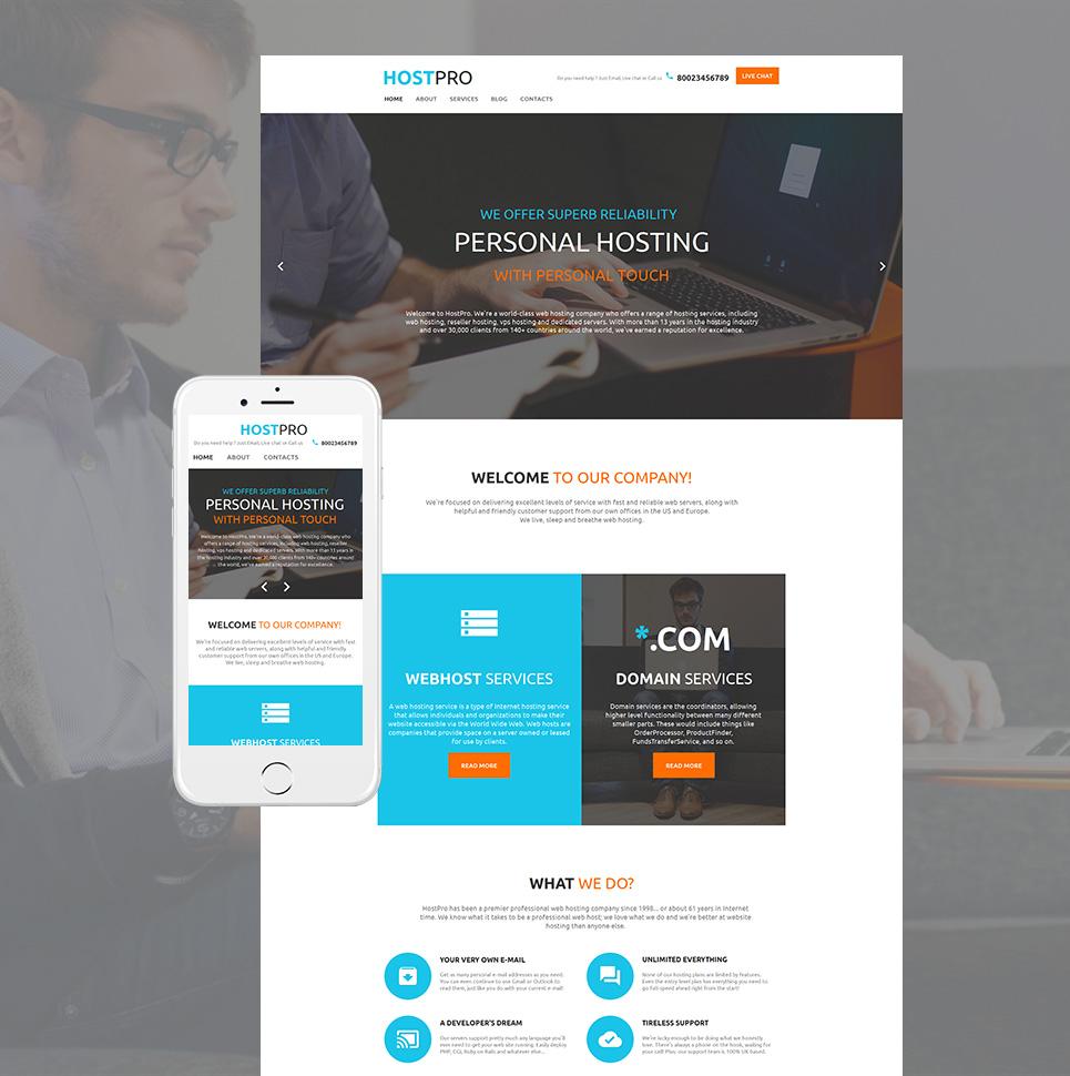 Hostpro HTML Website Template - image