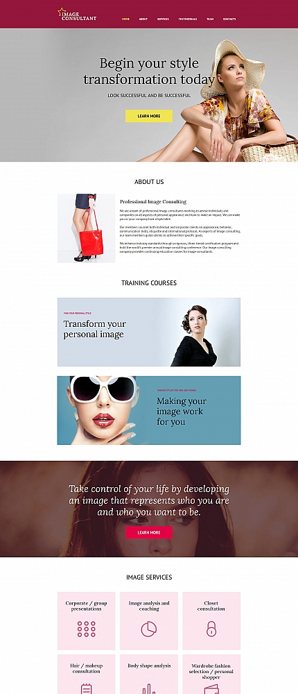 ADOBE Photoshop Template 59162 Home Page Screenshot
