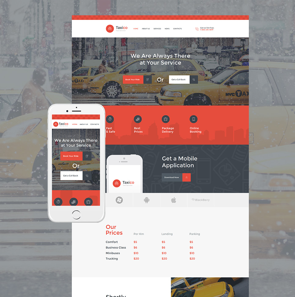 Taxico HTML Website Template - image