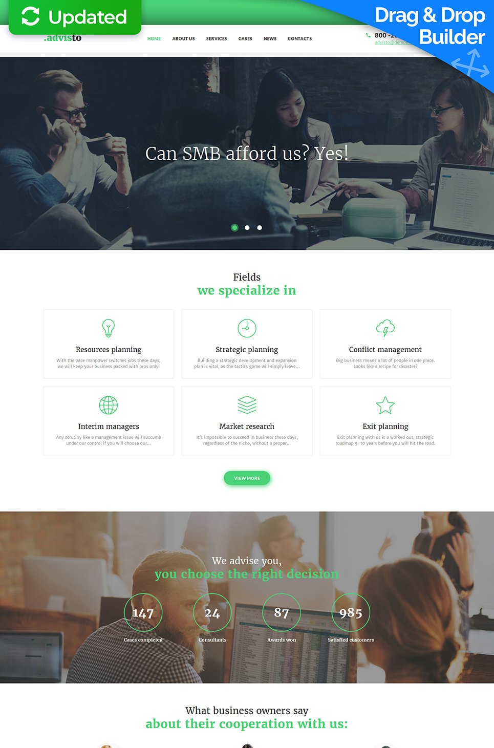 Consulting Website Template with Blog - image