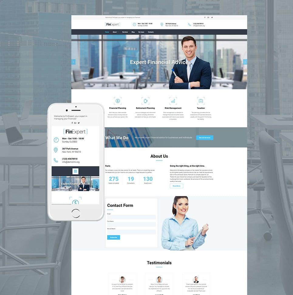 FinExpert Responsive Website Template - image