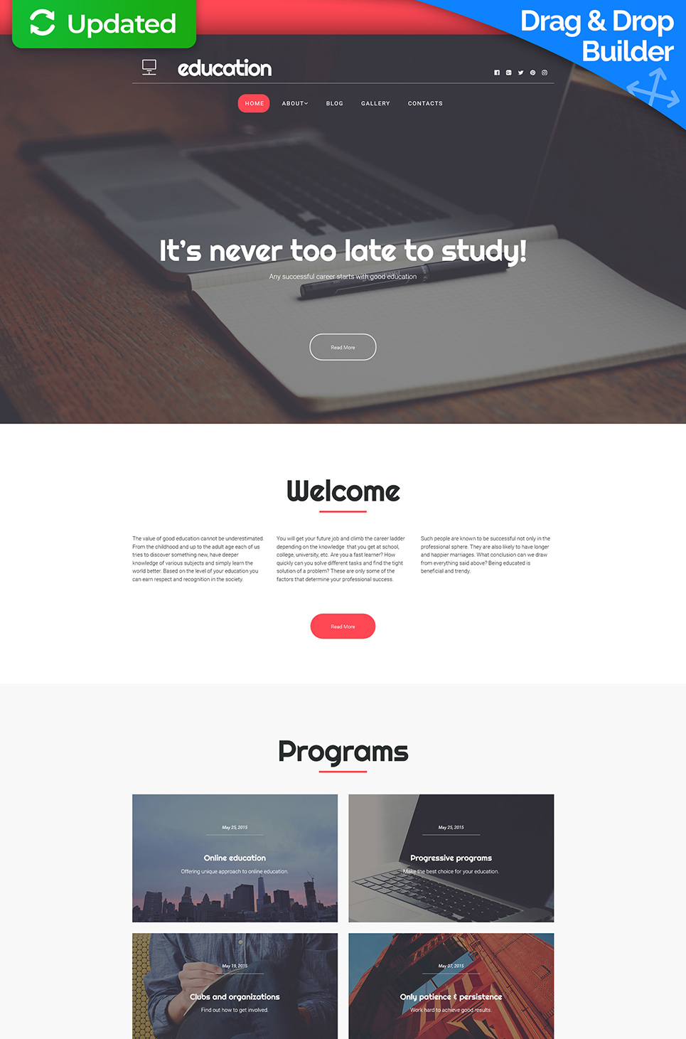 education Responsive Website Template - image