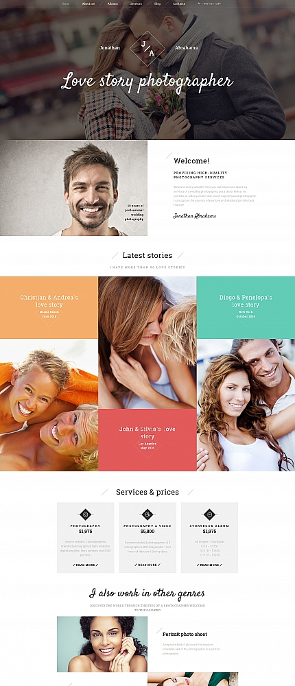 ADOBE Photoshop Template 59177 Home Page Screenshot