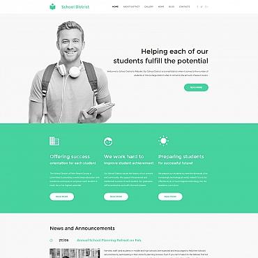 Купить Шаблон сайта института, школы или колледжа. Купить шаблон #59179 и создать сайт.