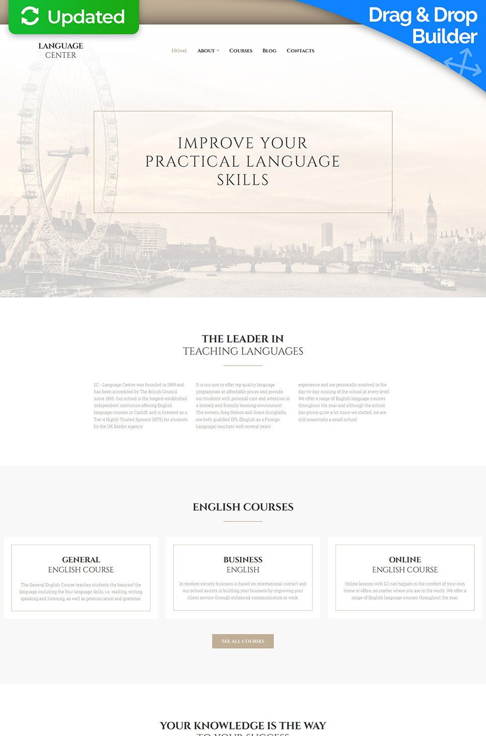 Language Center Responsive Website Template - image