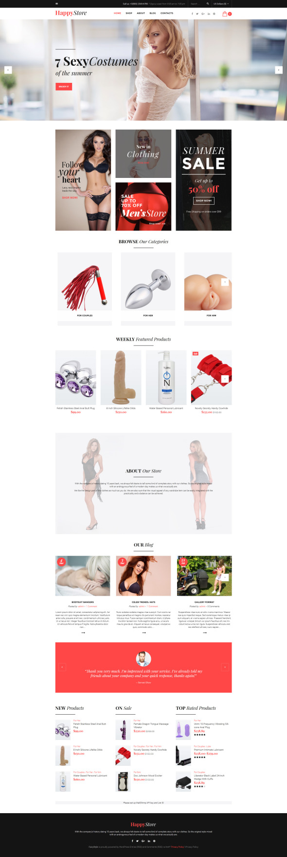 Adult WooCommerce Theme