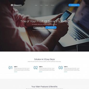 Купить Шаблон landing page для бизнес компании. Купить шаблон #59192 и создать сайт.