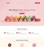 Food & Drink Landing Page  Template 59196