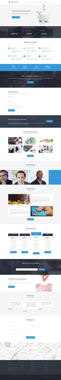 Адаптивный шаблон сайта на тему финансовые консультации #59153