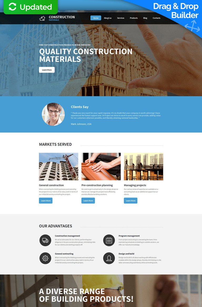 Building Materials Responsive Moto CMS 3 Template New Screenshots BIG