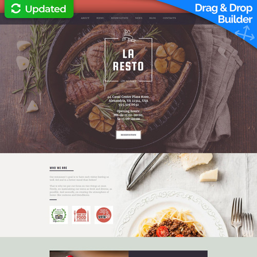 La Resto - Restaurant Template based on Bootstrap