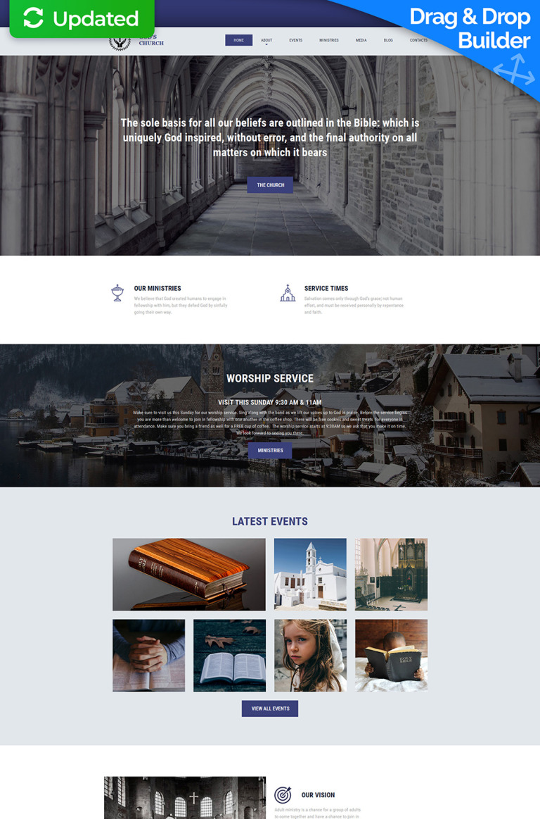 Christian Responsive Moto CMS 3 Template New Screenshots BIG