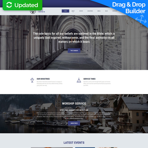 Christian - MotoCMS 3 Template based on Bootstrap